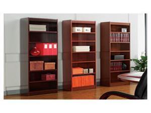 Alera Square Corner Wood Veneer Bookcase, Six-Shelf, 35-5/8w x 11-3/4d x 72h,
