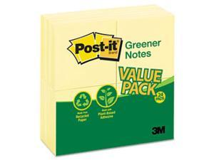 Original Recycled Note Pads, 100 3 x 3 Sheets, Canary Yellow, 24 Pads/Pack