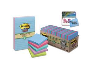 Recycled Notes in Bora Bora Colors, 3 x 3, 90-Sheet, 12/Pack 654-12SST