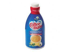 Nestle 31803CT Liquid Coffee Creamer, French Vanilla, 1.5 Liter Pump Bottle, 2/Carton, 1 Carton