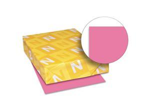 Wausau Papers 22119 8.5 x 11 Astrobrights Colored Paper, Plasma Pink