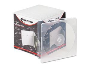 Innovera 81900 Slim CD Case, Clear, 25-Pack