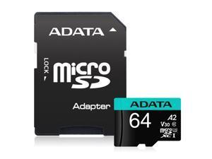 A-DATA AUSDX64GUI3V30SA2-RA1 ADATA 64G MICROSDXC UHS-I U3 CLASS 10