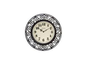 """WESTCLOX 32021A Westclox Detailed Frame Wall Clock with 12"""" Round Case, Hand Rubbed Case Finish, Convex Glass Lens."""