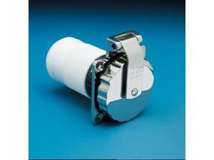 Power Inlet, 50V, 125/250V, Stainless Steel