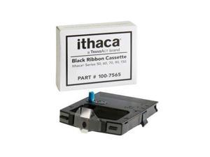 TRANSACT TECHNOLOGIES 100-7565 BLACK RIBBON CASSETTES FOR 150  and  90 SERIES; CASE OF 12