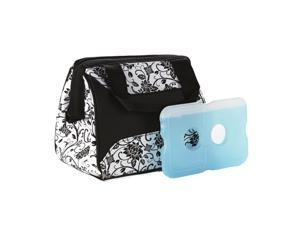 Medport 372FF34 FIT  and  FRESH 372FF34 LUNCH BAG IN EBONY FLORAL WITH ICE YOUR