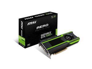 MSI GEFORCE GTX 1080 TI AERO 11G OC  NVIDIA GeForce GTX 1080 Ti AERO 11G OC 11GB GDDR5X HDMI/3DisplayPort PCI-Express Video Card