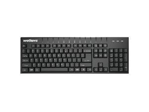 Wetkeys, LLC KBWKABS104-BK PRO-GRADE FULL-SIZE ABS USB KB