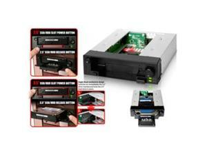 "ICY DOCK ICY#MB971SPB Drive Bay Adapter Internal - Black 1 x Total Bay - 1 x 2.5""/3.5"" Bay"
