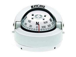 "Ritchie RITC-S-53W Compass, Surface Mount, 2.75"" Dial, Wht."