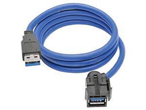 Tripp Lite U324-06N-BK 6IN USB3 SUPERSPEED TYPE-A EXTN CBL M/F