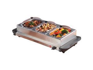 Brentwood Appliances BF-315 TRPL BUFFET SRVR W/TRAY