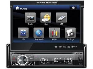 """Power Acoustik PTID8920B  7"""" Motorized Fiip-out Monitor Bluetooth"""