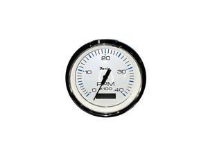 "Faria Beede Instruments 33801 Chesapeake Ss White 4/"" Engine Synchronizer Dual"