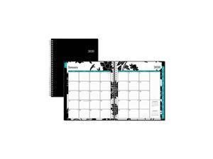Barcelona Monthly Planner, 10 x 8, Black Cover, 2021 100004