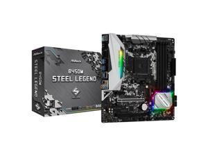 ASROCK B450M STEEL LEGEND ASRock B450M STEEL LEGEND Socket AM4/ AMD Promontory B450/ DDR4/ Quad CrossFireX/ SATA3 and USB3.1/ M.2/ A and GbE/ MicroATX Motherboard