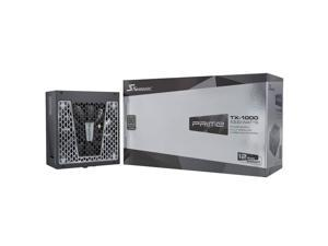 SEASONIC PRIME TX-1000 PRIME TX-1000, 1000W 80+ Titanium, Full Modular, Fan Control in Fanless, Silent, and Cooling Mode, 12 Year Warranty, Perfect Power Supply for Gaming and High-Performance Systems