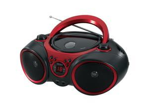 JENSEN CD490  CD490 BLACK/RED PORTABLE COMPACT DISC PLAYER WITH AM F