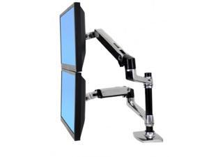 ERGOTRON 45-248-026 Ergotron LX Dual Stacking Arm - Mounting kit ( tray, desk clamp mount, grommet mount, pole, 2 articulating arms, 2 extension brackets ) for 2 LCD displays or LCD display and notebo