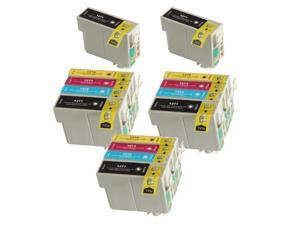3 Pack 2 Black Of Total 14 Remanufactured Epson 127 Extra High Capacity