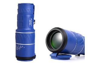 PANDA 30x50 Dual Focus Zoom Green Optic Lens Armoring Monocular Telescope - Blue