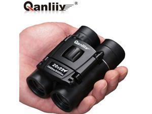 Phenix QANLIIY 20X22 Pocket-Size Mini Portable HD Zoom Green Optic Lens Binoculars Telescope - Matte Rubber