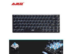 UrChoiceLtd® Ajazz Geek AK33 Backlit Usb Wired Gaming Mechanical Keyboard Blue Black Switches for Office, Typists and Play Games ( Blue Switch, Black)