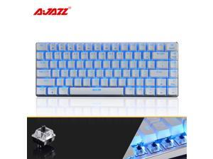 UrChoiceLtd® Ajazz Geek AK33 Backlit Usb Wired Gaming Mechanical Keyboard Blue Black Switches for Office, Typists and Play Games (Black Switch,White)