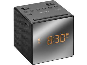 Sony Alarm Clock with FM/AM Radio, Black