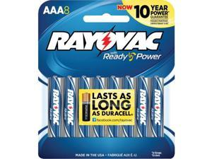 Rayovac Alkaline Batteries AAA 8/Pack 8248K