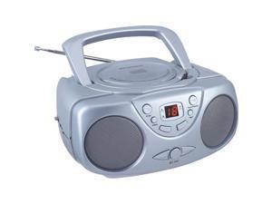 Sylvania SRCD243M SILVER Portable CD Radio Boom Box (Silver )