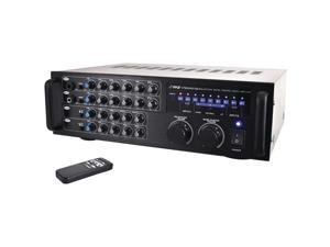 PylePro PMXAKB1000 1000 Watt Bluetooth Karaoke Mixer Amplifier with Two Microphone Inputs, RCA Audio & Video