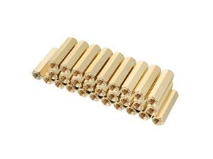 Unique Bargains 30pcs Brass Straight PCB Pillar Female Thread Hex Standoff Spacer M3x5x16mm