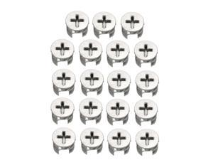 15 Pcs Furniture Connecter Cam Lock Fittings 15mm x 12mm for Cabinet Drawer Dresser and Wardrobe Furniture Panel Connecting