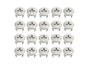 20 Pcs Furniture Connecter Cam Lock Fittings 13mm x 11mm for Cabinet Drawer Dresser and Wardrobe Furniture Panel Connecting