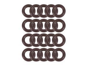 Fluorine Rubber O-Rings 8.1mm OD 4.5mm ID 1.8mm Width Seal Gasket Brown 20pcs