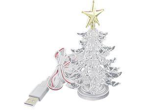 Christmas Tree Shaped Color Changed LED Light USB Lamp