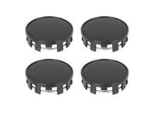 4 Pcs 54mm 9 Lugs Universal Black Car Wheel Tyre Center Hub Caps Cover Protector