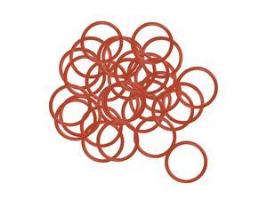 Silicone O-Ring, 17mm OD, 14mm ID, 1.5mm Width, VMQ Seal Rings Gasket, Red, Pack of 30