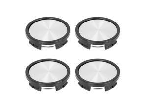4 Pcs 57mm 4 Lugs Universal Silver Tone Car Wheel Center Hub Caps Cover Protector