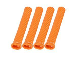 4 Pcs Orange Spark Plug Wire Boots 1800 Degree Heat Shield Protector Sleeve for Car