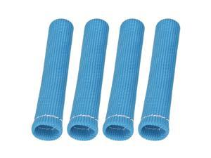 4 Pcs Blue Spark Plug Wire Boots 1800 Degree Heat Shield Protector Sleeve for Car