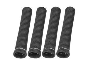 4 Pcs Black Spark Plug Wire Boots 1800 Degree Heat Shield Protector Sleeve for Car