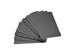 Blank Metal Business Card 88x53x0.8mm Anodized Aluminum Plate for DIY Laser Printing Black 10 Pcs