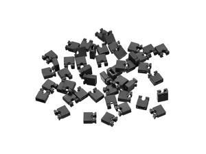 50pcs 2.54mm Standard Pin Header Jumper Cap Short Circuit Connection Cap Mini Micro Jumper Bridge Plug Black