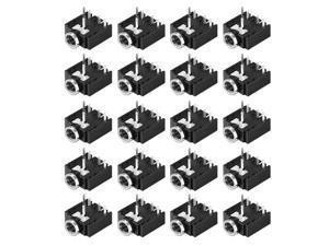 3.5 mm Audio Jack Connector PCB Mount Female Socket 5 Pin PJ-307 20pcs