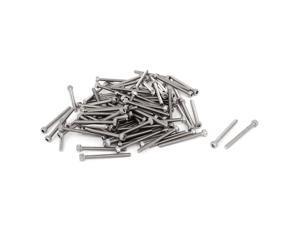 Unique Bargains 100pcs M2.5x28mm Stainless Steel Hex Key Socket Head Cap Screws Bolts 30mm Long