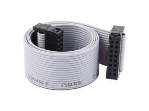 """Unique Bargains IDC 16-Pin Female/Female Connector Motherboard Extension Flat Ribbon Cable 19"""""""