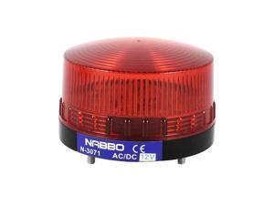 Industrial DC 12V Mini Red LED Indicator Warning Light Flash Signal Lamp N-3071